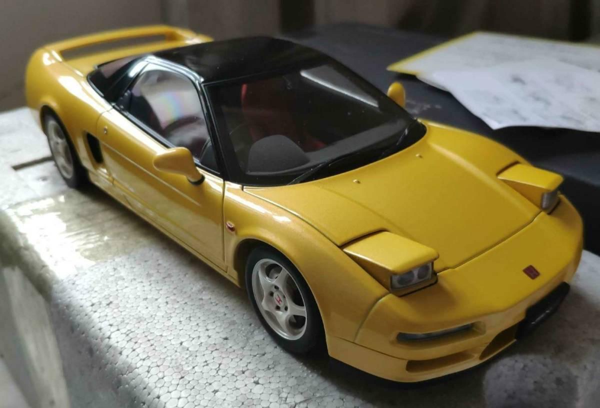 人気合金模型車ミニカーコレクションホンダ・NSX 1992 type r hoda1:18スケールシルバー新品_画像6