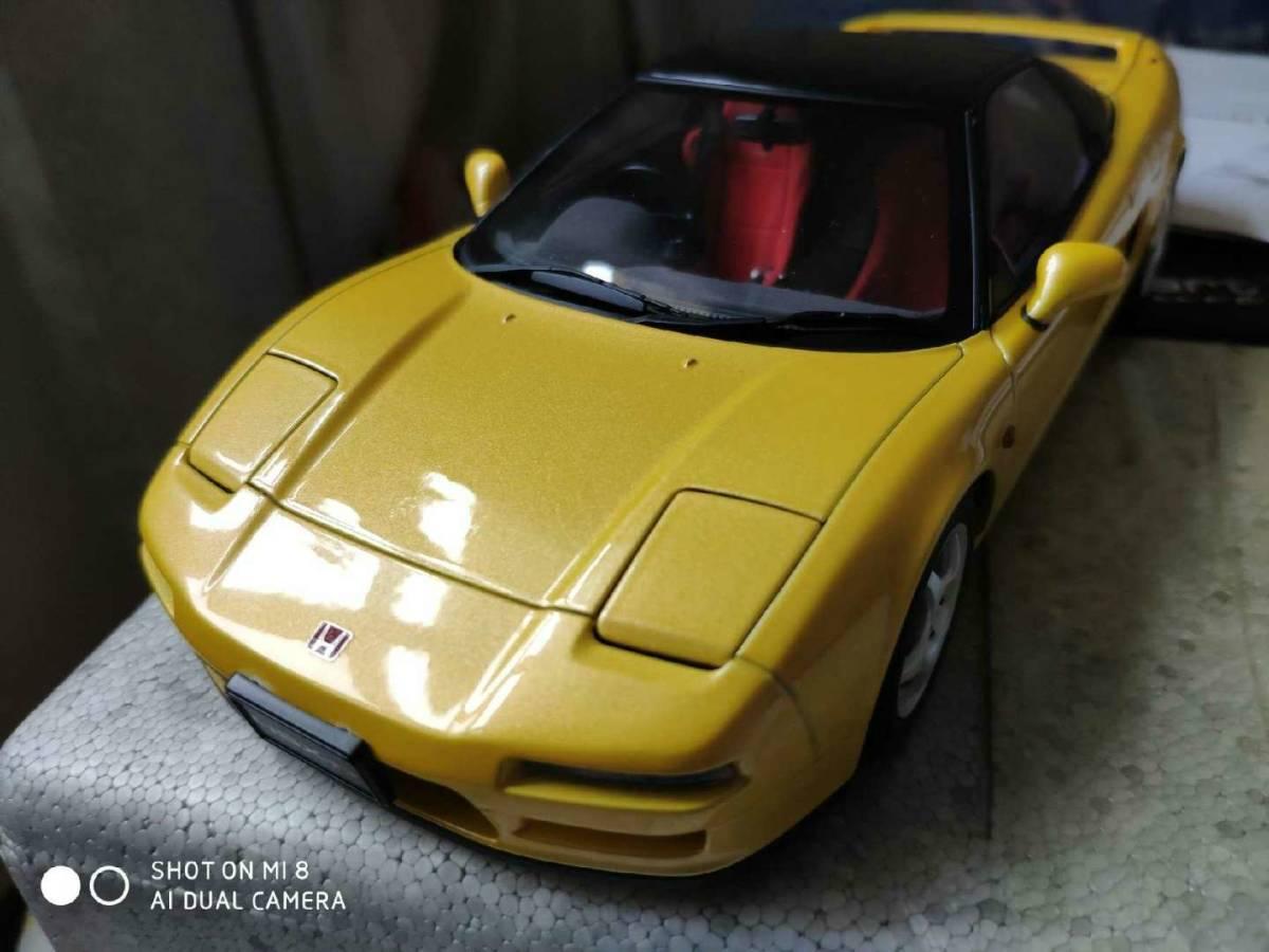 人気合金模型車ミニカーコレクションホンダ・NSX 1992 type r hoda1:18スケールシルバー新品