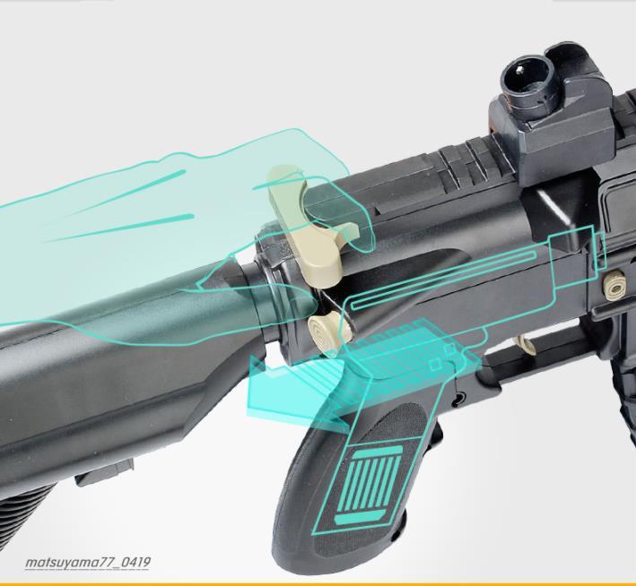M416アサルトライフル 電気バースト機関銃 水鉄砲 しゃきょり約15-20メートル おもちゃの銃 TG137_画像4