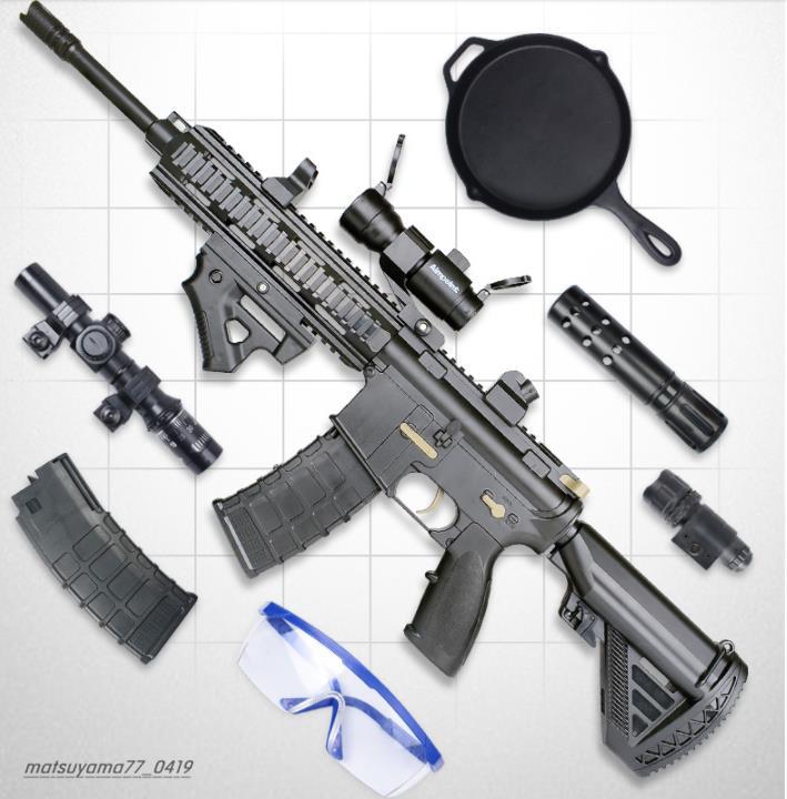 M416アサルトライフル 電気バースト機関銃 水鉄砲 しゃきょり約15-20メートル おもちゃの銃 TG137_画像2