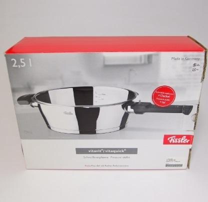 未使用保管品 フィスラー ビタクイック スキレット 2.5L 圧力フタ付き 圧力鍋 Fissler_画像1