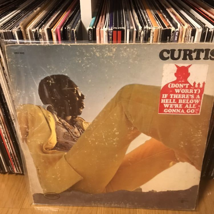 US ORIG LP CURTIS MAYFIELD/Curtis 1970年 HYPE STICKER付 Move On Up KANYE WEST ネタ koco muro soul funk raregroove ブレイク