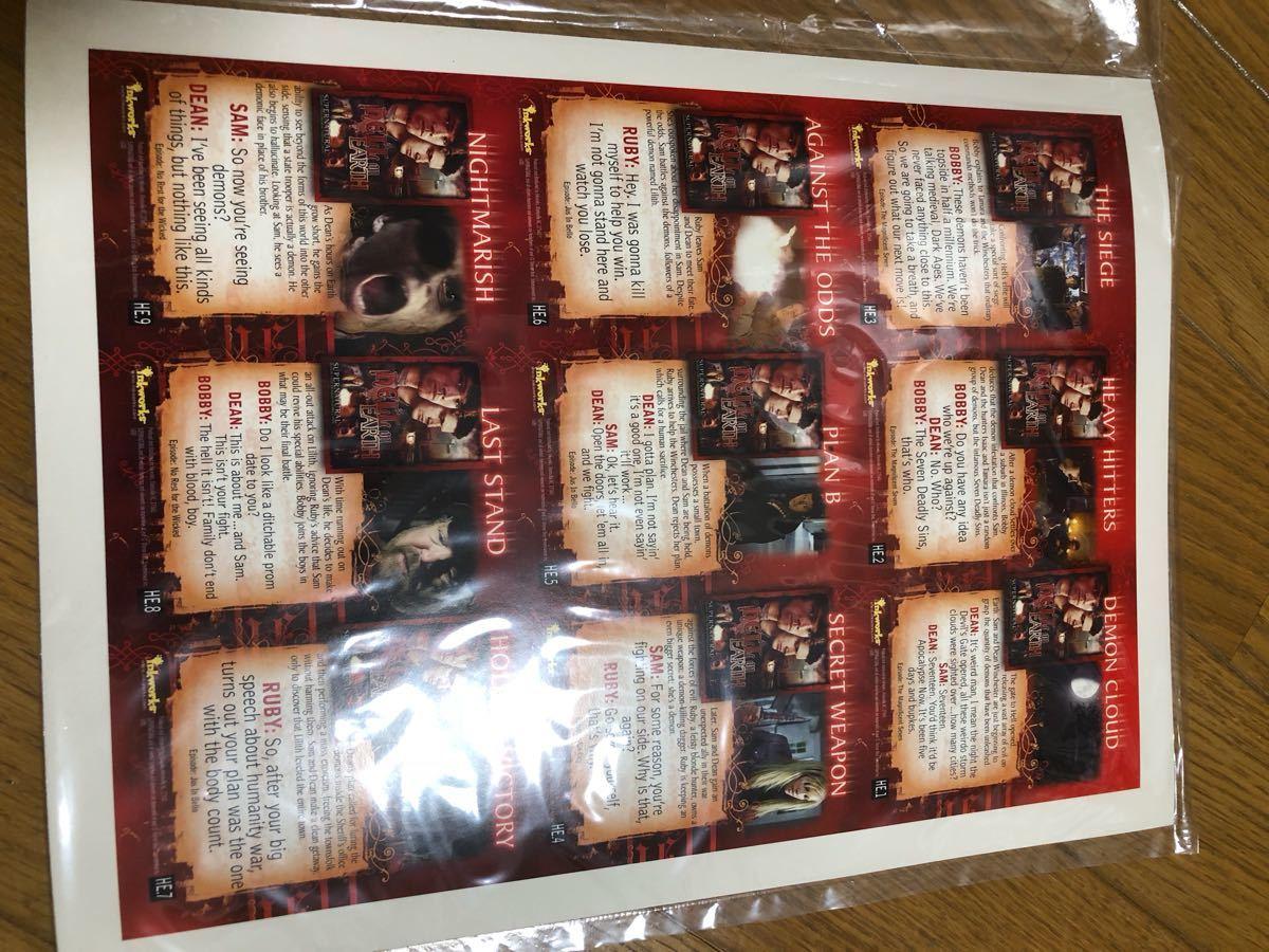 スーパーナチュラル SUPERNATURAL トレーディングカード アルバム ノーマルカードセット 他限定物などディーン サム ウィンチェスター_画像7