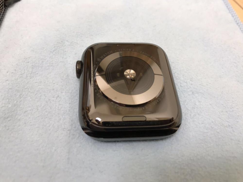 【美品】Apple Watch SERIES4 44mm アップルウォッチ シリーズ4 セルラーモデル スペースブラック ステンレススチール ミラネーゼループ_画像3