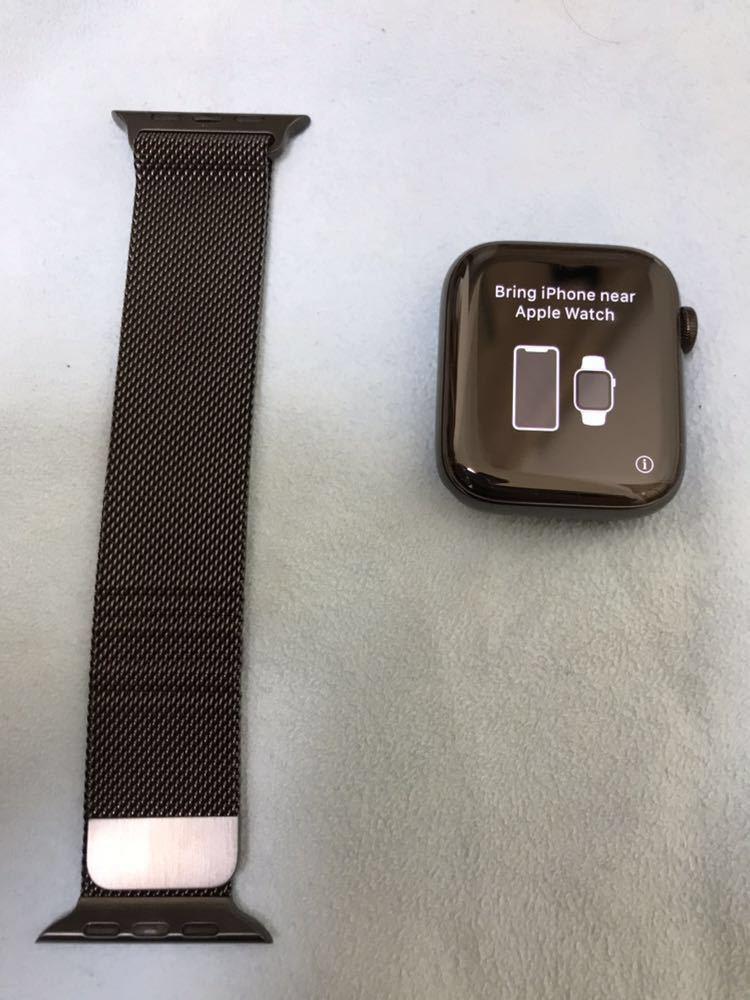 【美品】Apple Watch SERIES4 44mm アップルウォッチ シリーズ4 セルラーモデル スペースブラック ステンレススチール ミラネーゼループ_画像2