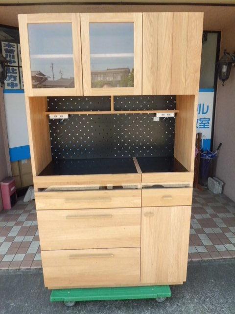 東馬 食器棚/キッチンボード 幅104.5(cm)