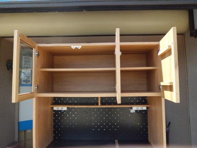 東馬 食器棚/キッチンボード 幅104.5(cm)_画像2
