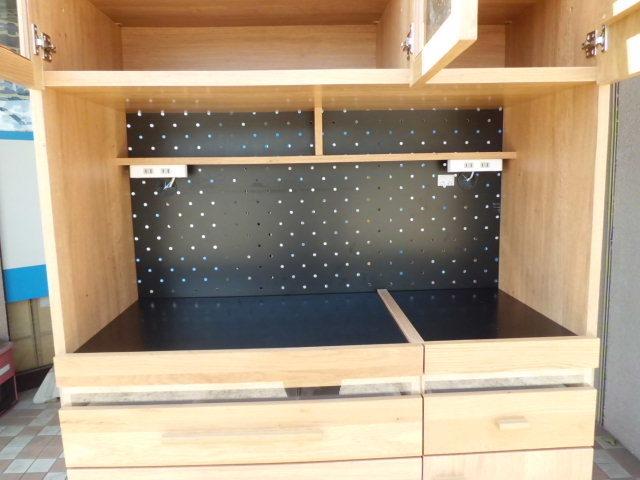東馬 食器棚/キッチンボード 幅104.5(cm)_画像3
