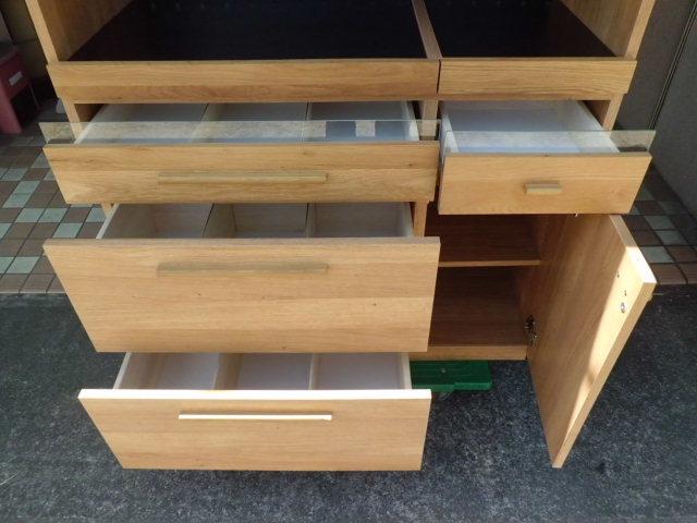 東馬 食器棚/キッチンボード 幅104.5(cm)_画像6