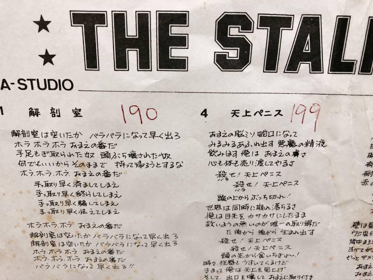 THE STALIN Trash 1981年オリジナル盤 遠藤ミチロウ 宮西計三_画像7