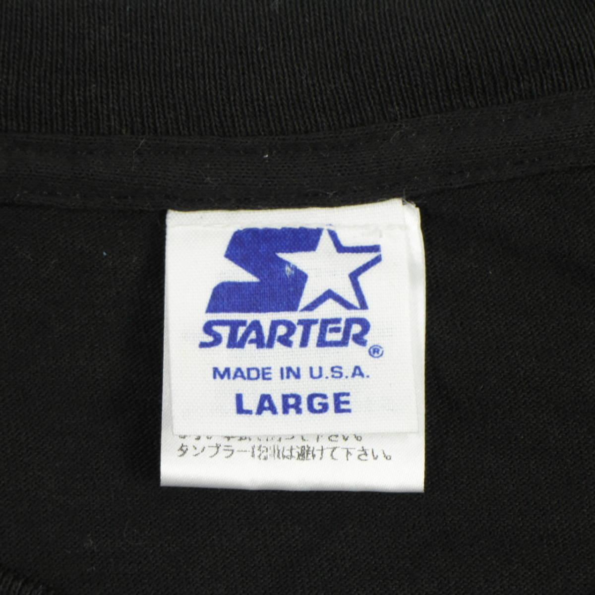 ■美品 90s USA製 STARTER NHL アナハイム マイティ ダックス Tシャツ Anaheim Mighty Ducks 黒 L ビンテージ_画像3