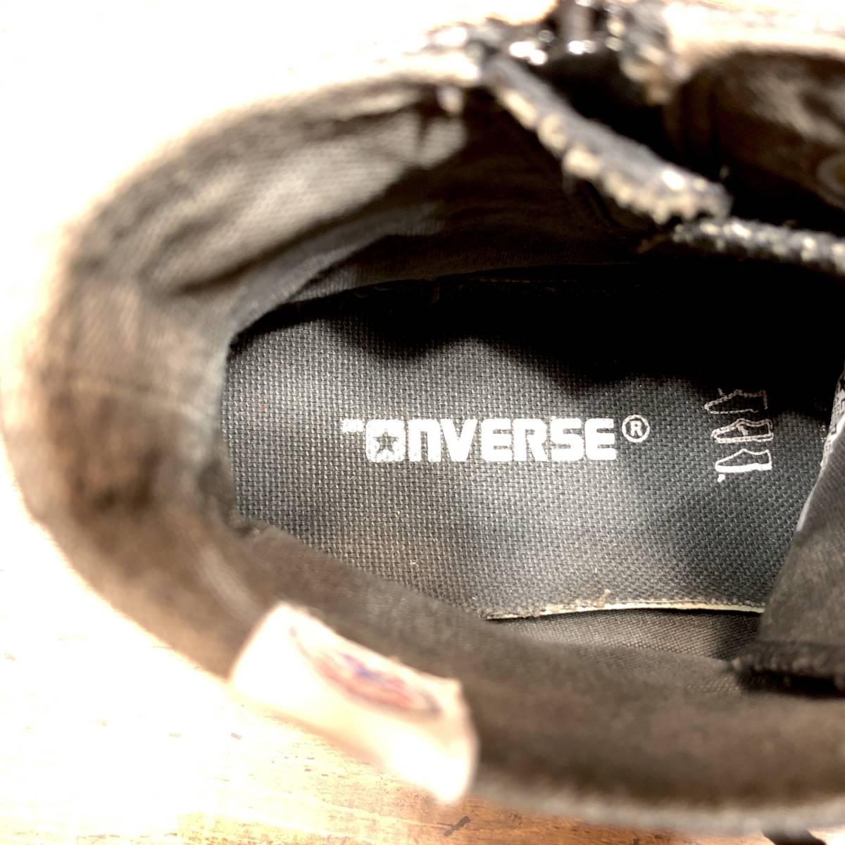 ■CONVERSE ALL STAR■ 26.5cm US8 黒 ブラック コンバース オールスター ハイカットスニーカー サイドジップ メンズ 靴 くつ 8ホール 即決_画像8