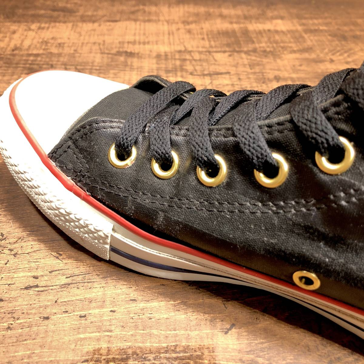■CONVERSE ALL STAR■ 26.5cm US8 黒 ブラック コンバース オールスター ハイカットスニーカー サイドジップ メンズ 靴 くつ 8ホール 即決_画像7