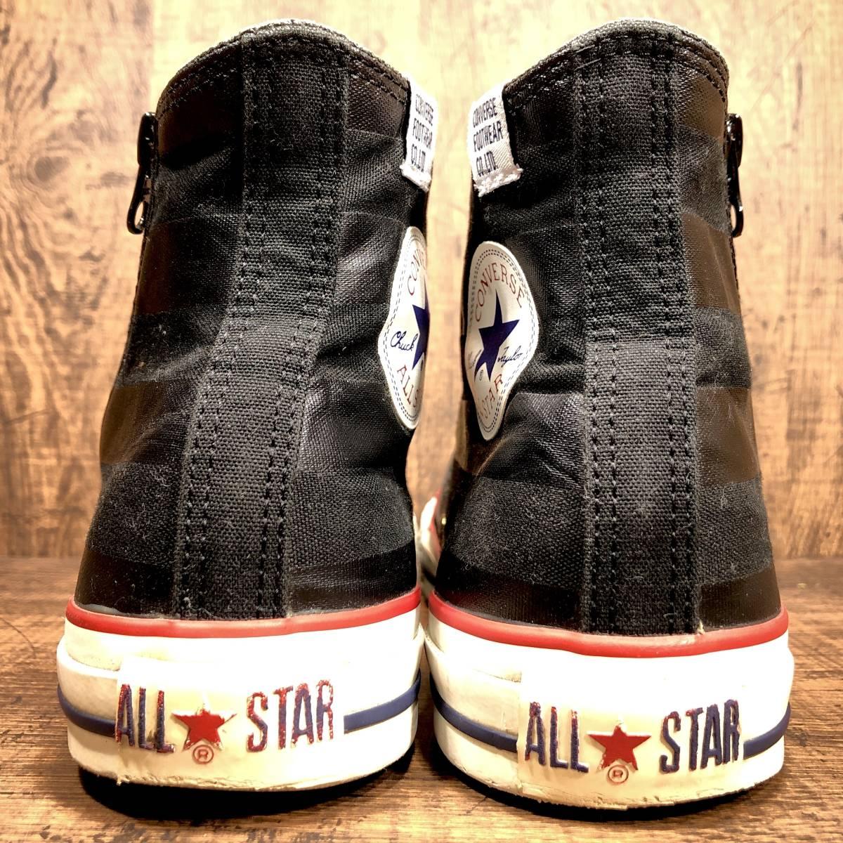 ■CONVERSE ALL STAR■ 26.5cm US8 黒 ブラック コンバース オールスター ハイカットスニーカー サイドジップ メンズ 靴 くつ 8ホール 即決_画像2