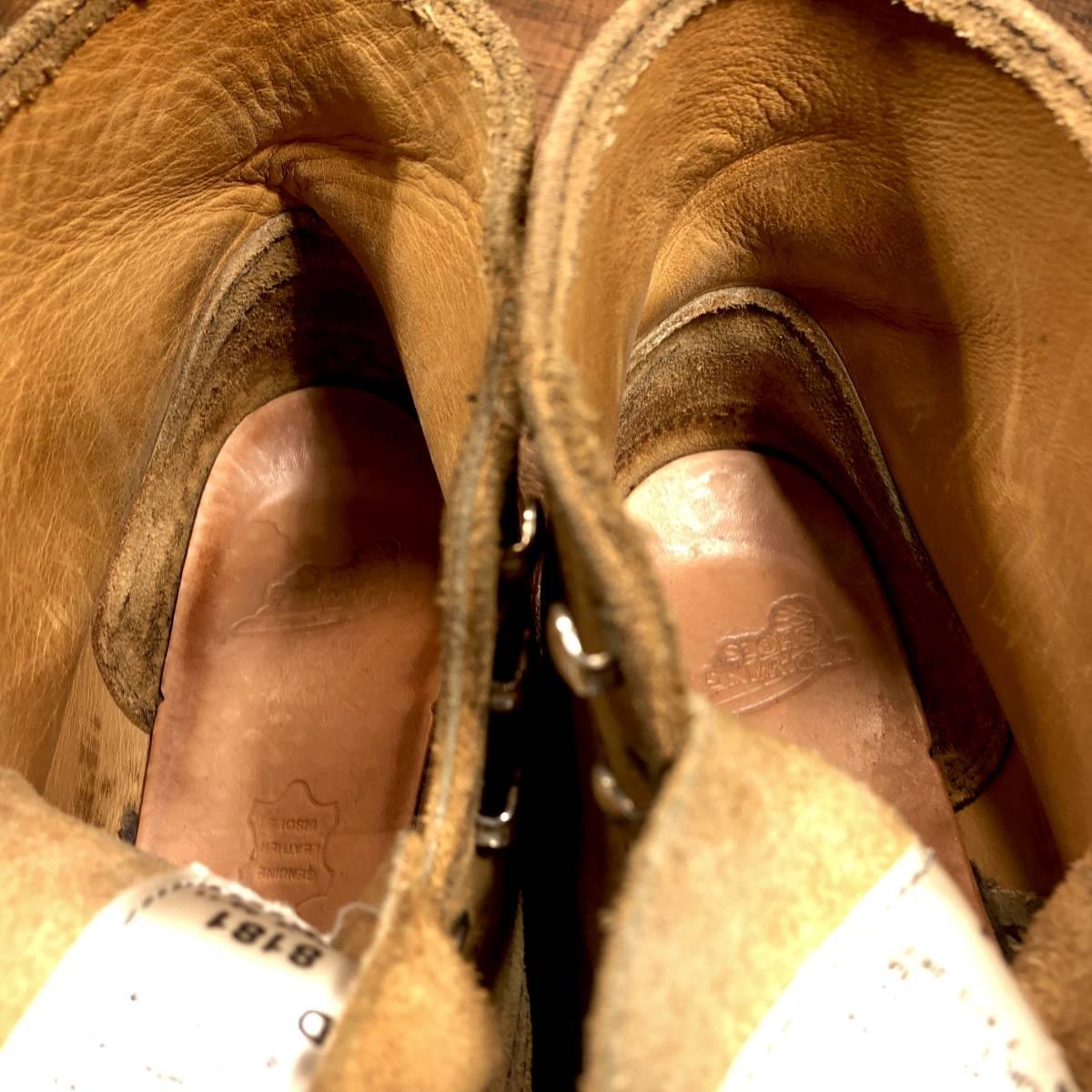 ■RED WING 8181■ 26cm US8D 茶 ブラウン レッドウィング ショートカットブーツ メンズ 革靴 靴 くつ ブーツ 即決_画像5