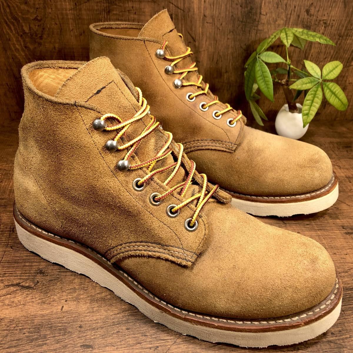 ■RED WING 8181■ 26cm US8D 茶 ブラウン レッドウィング ショートカットブーツ メンズ 革靴 靴 くつ ブーツ 即決