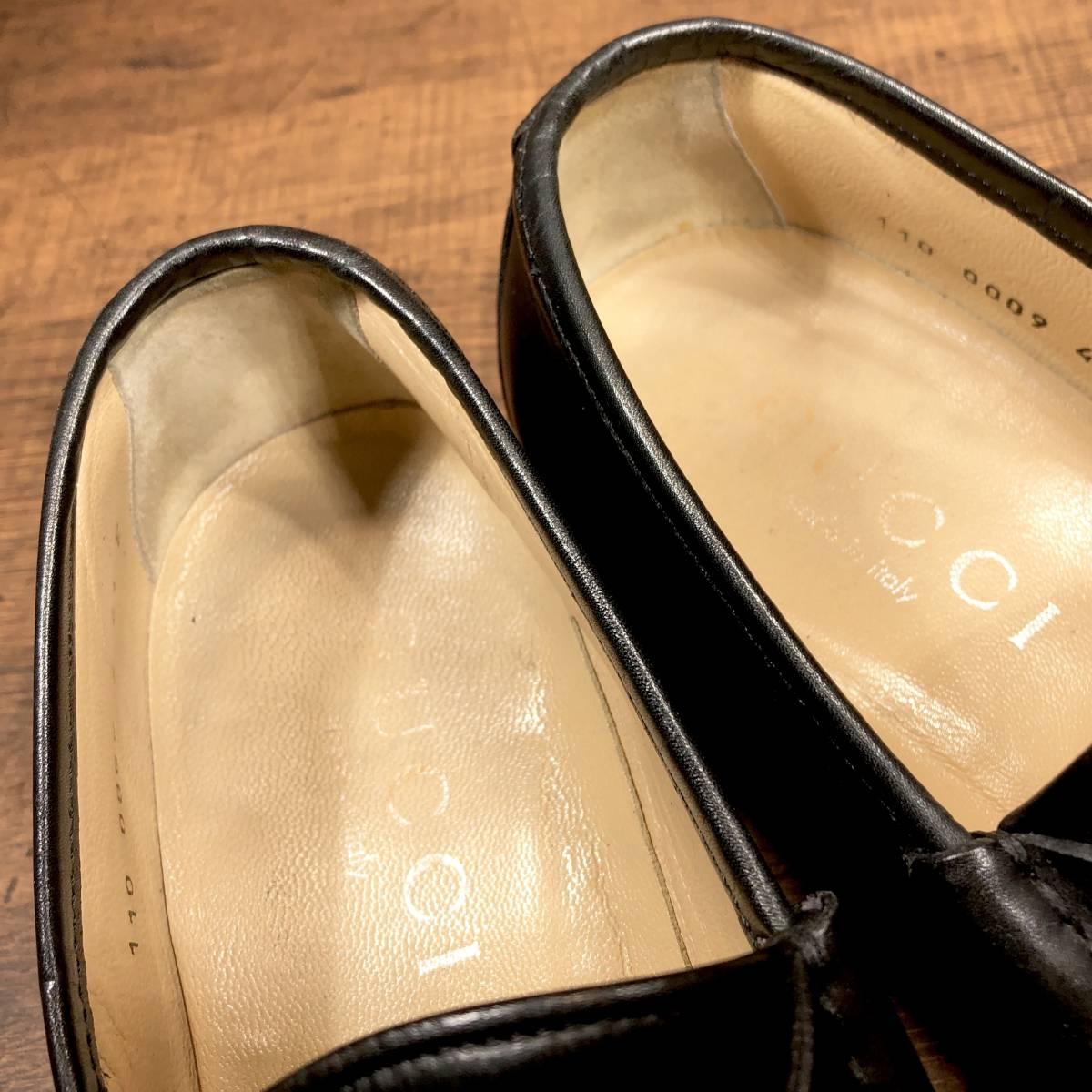 ■GUCCI■ 26cm 黒 ブラック グッチ ビットローファー メンズ 革靴 靴 本革 ビジネス ドレス くつ 即決_画像6