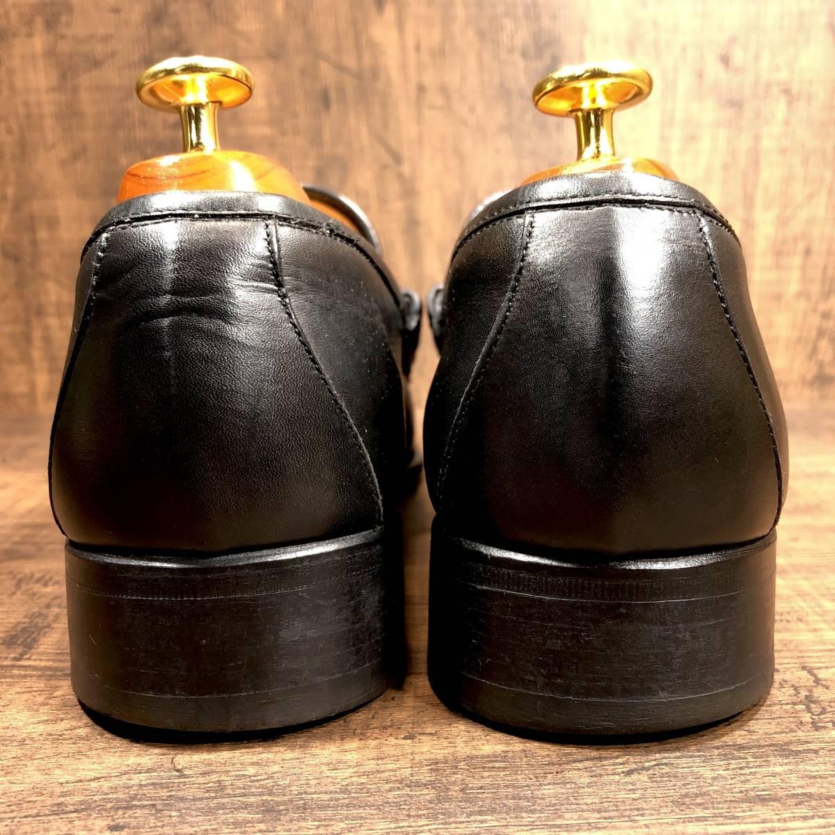 ■GUCCI■ 26cm 黒 ブラック グッチ ビットローファー メンズ 革靴 靴 本革 ビジネス ドレス くつ 即決_画像2