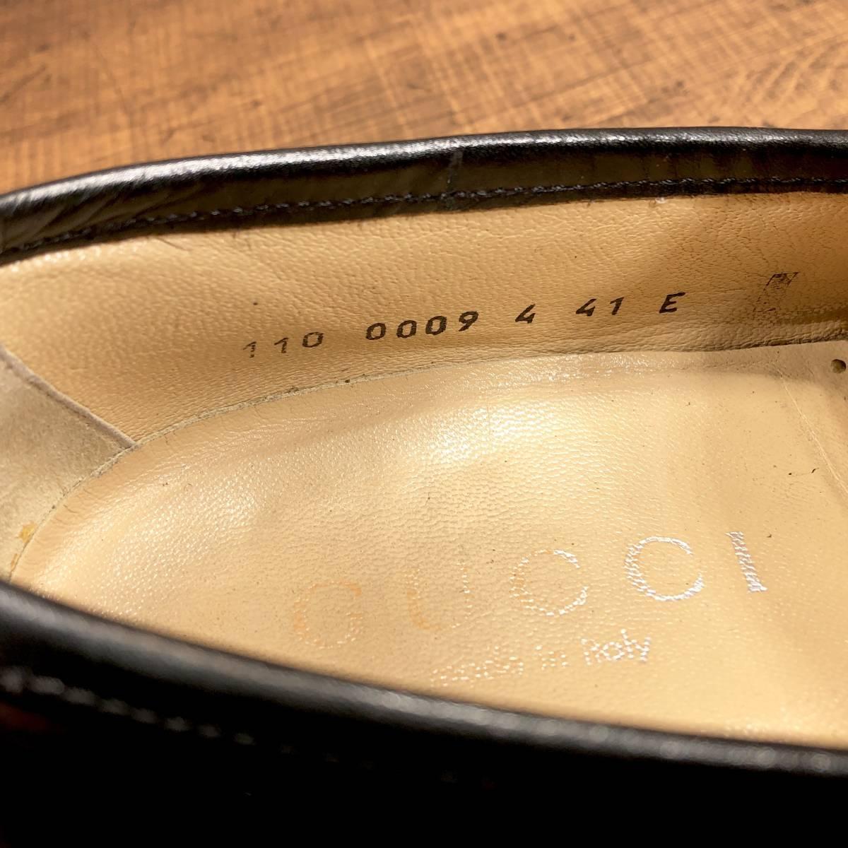 ■GUCCI■ 26cm 黒 ブラック グッチ ビットローファー メンズ 革靴 靴 本革 ビジネス ドレス くつ 即決_画像7