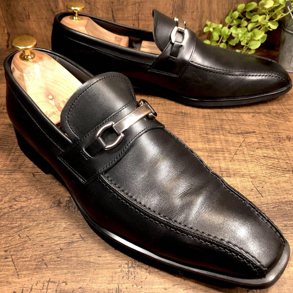■REGAL GORE-TEX■ 26.5cm 黒 ブラック リーガル ビットローファー ゴアテックス メンズ 革靴 靴 本革 ビジネス ドレス くつ 即決