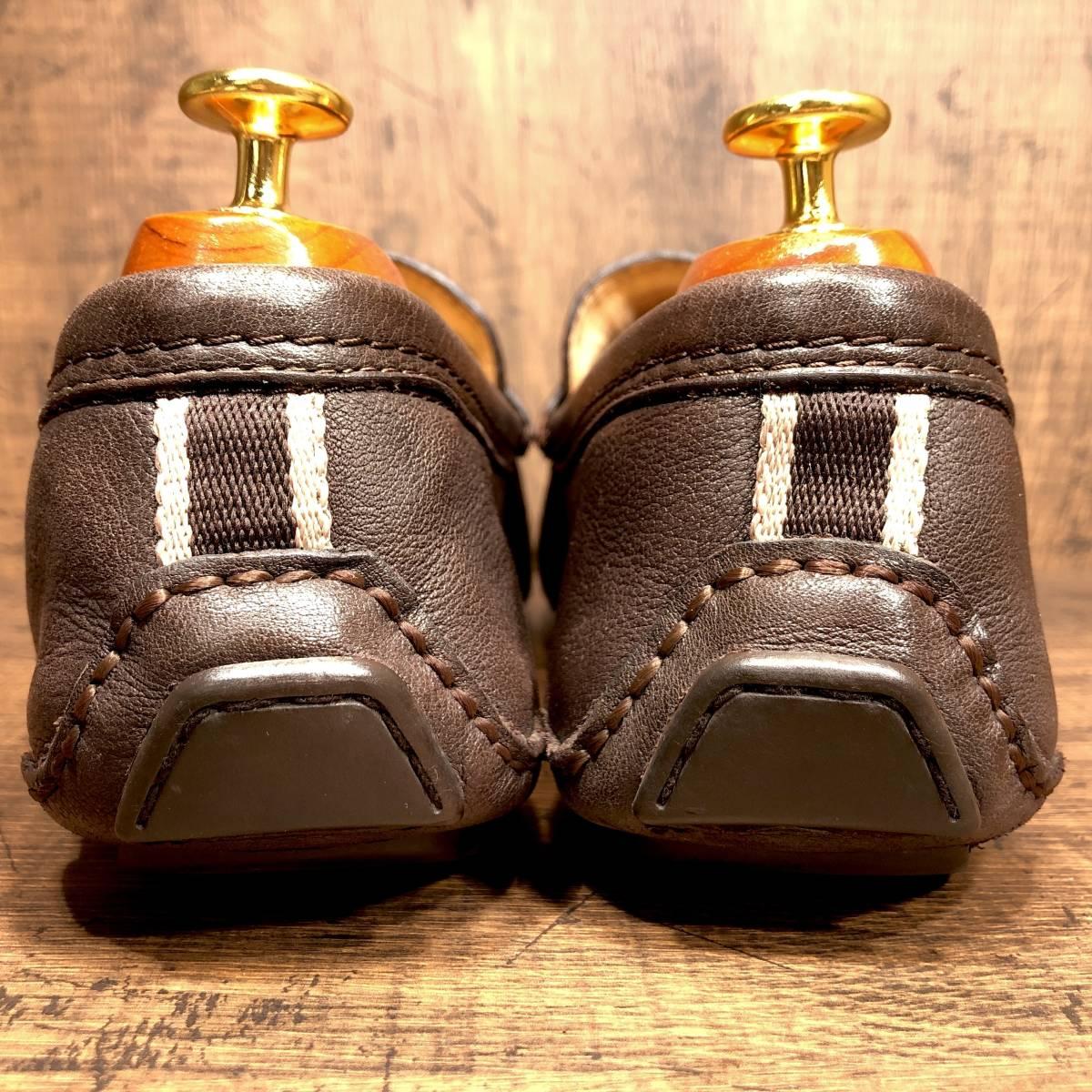 ■COACH■ 26cm 茶 ブラウン コーチ ドライビングシューズ コインローファー メンズ 革靴 靴 本革 ビジネス ドレス くつ 即決_画像2
