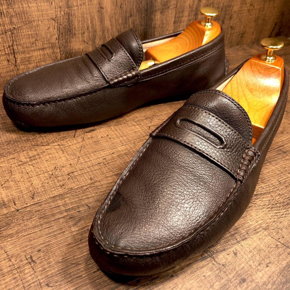 ■COACH■ 26cm 茶 ブラウン コーチ ドライビングシューズ コインローファー メンズ 革靴 靴 本革 ビジネス ドレス くつ 即決_画像4