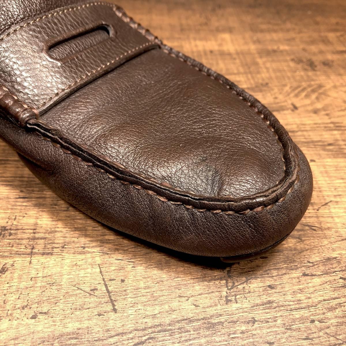 ■COACH■ 26cm 茶 ブラウン コーチ ドライビングシューズ コインローファー メンズ 革靴 靴 本革 ビジネス ドレス くつ 即決_画像7