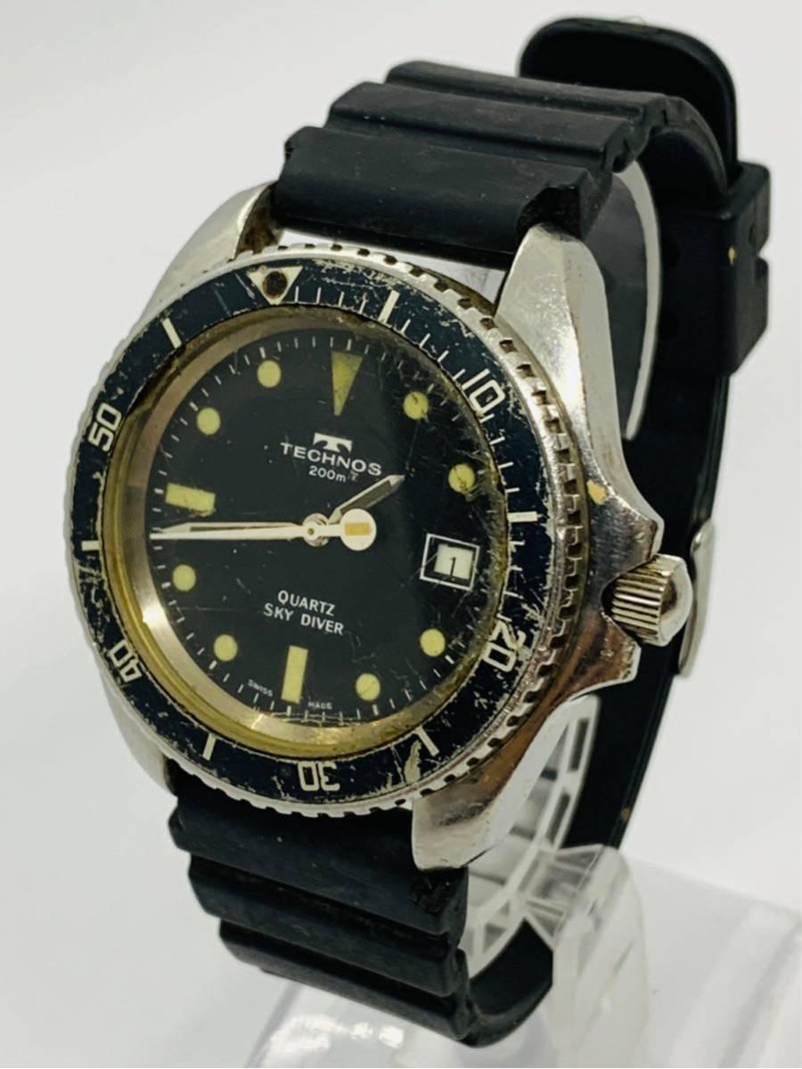 TECHNOS 腕時計 SKYDIVER QZ 750 0009 ジャンク!