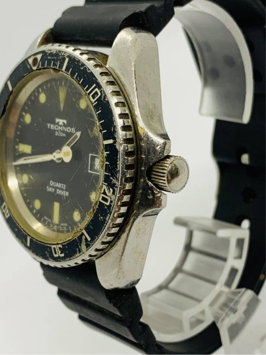 TECHNOS 腕時計 SKYDIVER QZ 750 0009 ジャンク!_画像2
