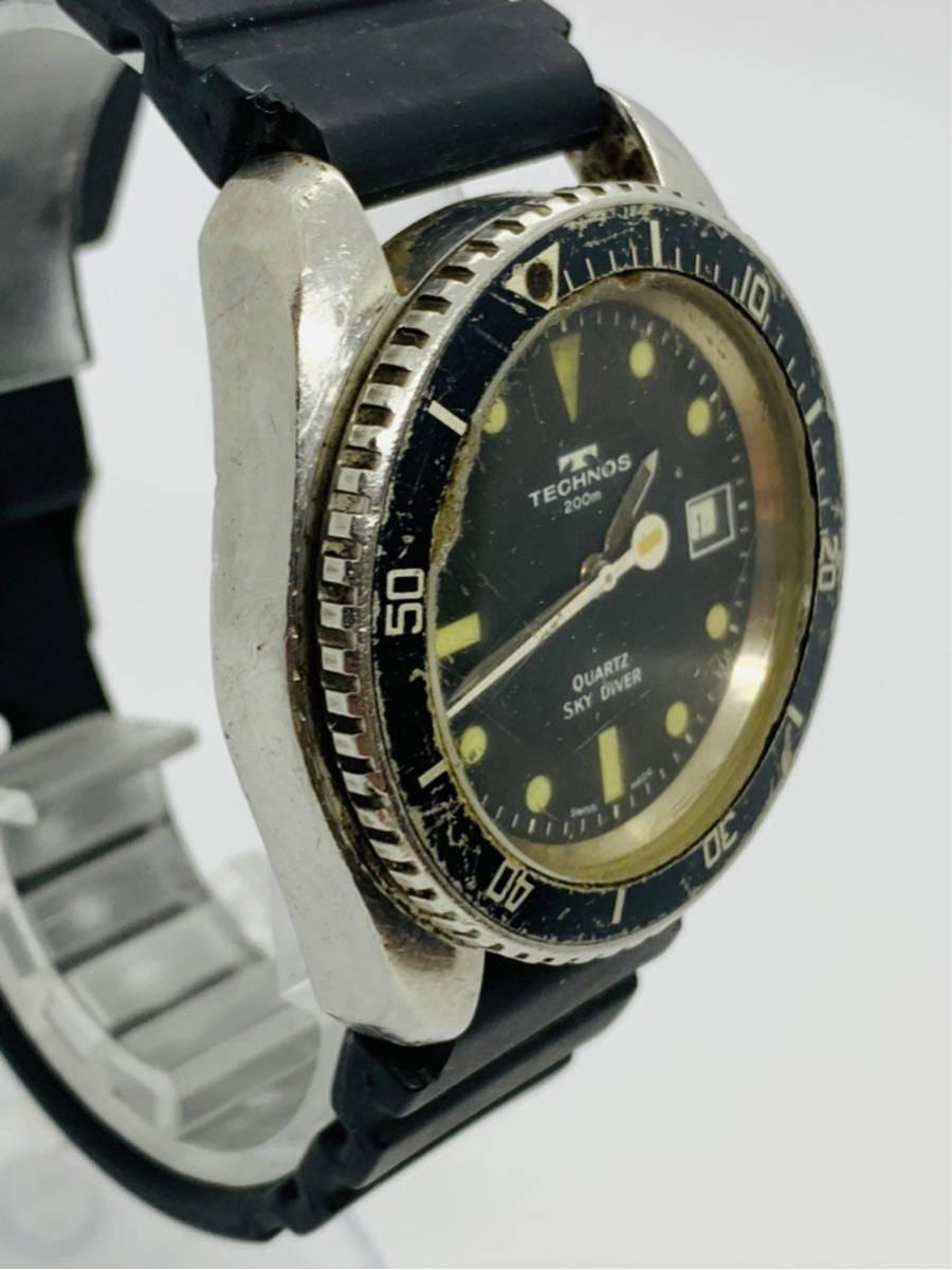 TECHNOS 腕時計 SKYDIVER QZ 750 0009 ジャンク!_画像3
