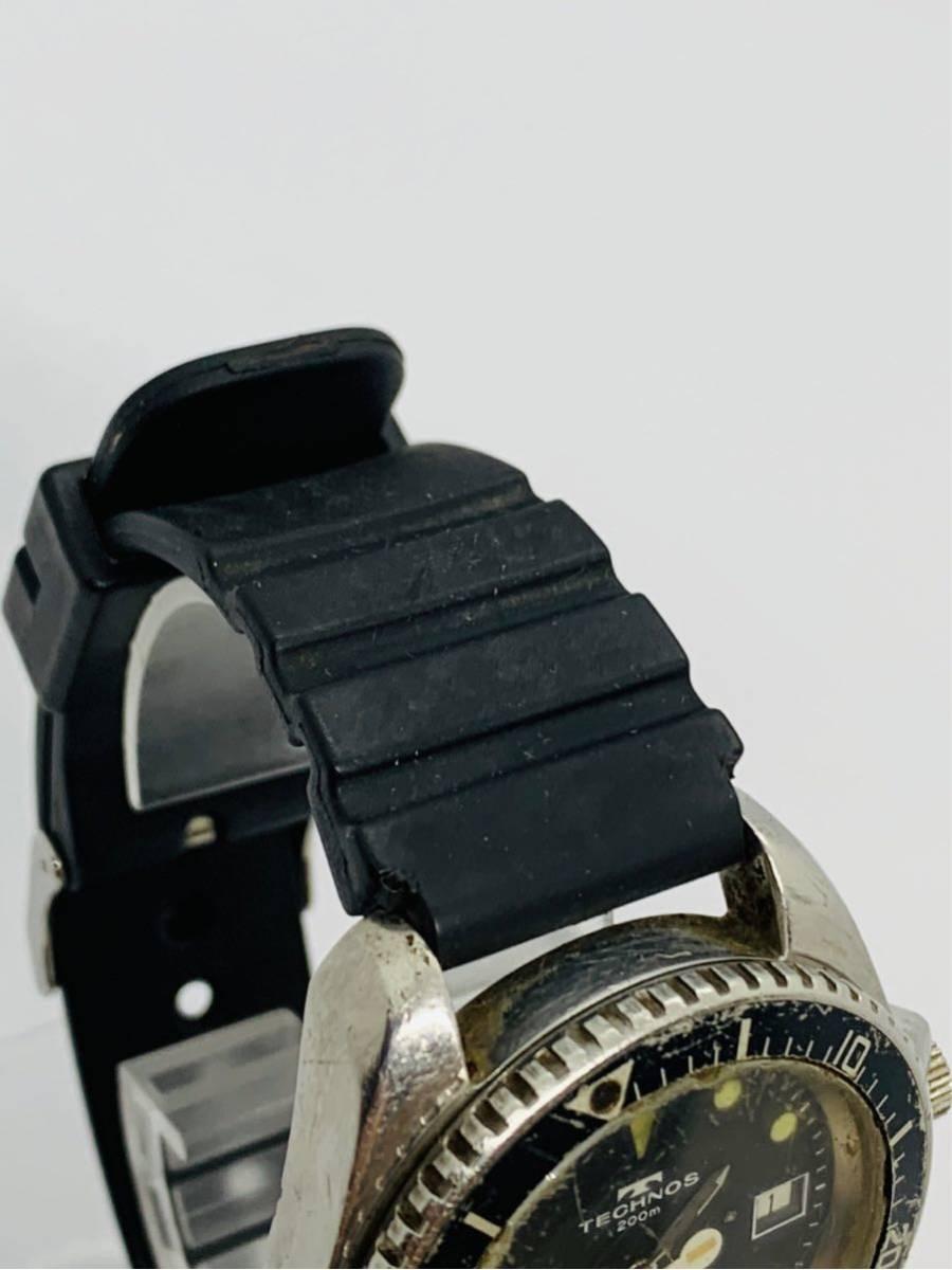 TECHNOS 腕時計 SKYDIVER QZ 750 0009 ジャンク!_画像4