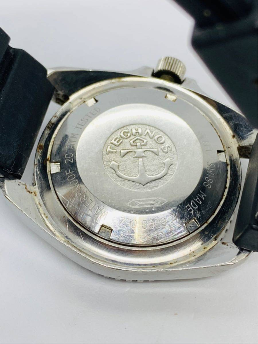 TECHNOS 腕時計 SKYDIVER QZ 750 0009 ジャンク!_画像6