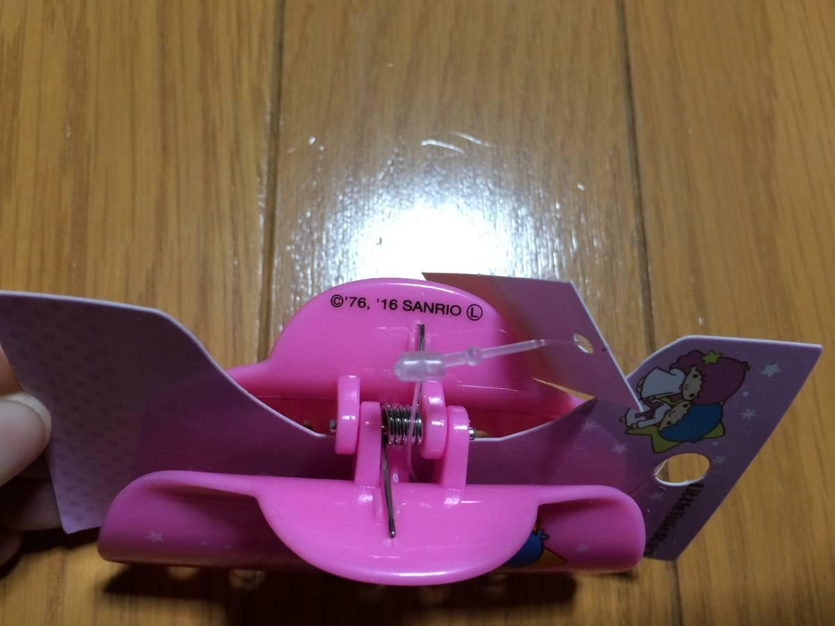 キキララ 髪留め 髪どめ クリップ型 ピンク色 新品_画像2
