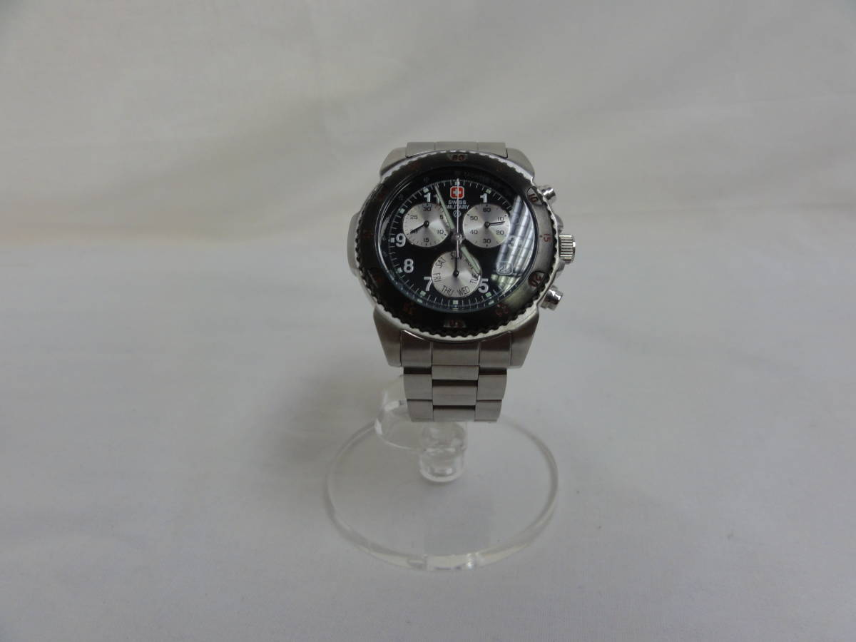 稼働品★スイスミリタリー(SWISS MILITARY) 2154M 腕時計 メンズ 腕回り約17cm