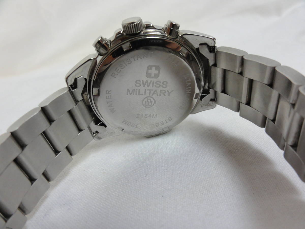 稼働品★スイスミリタリー(SWISS MILITARY) 2154M 腕時計 メンズ 腕回り約17cm_画像8