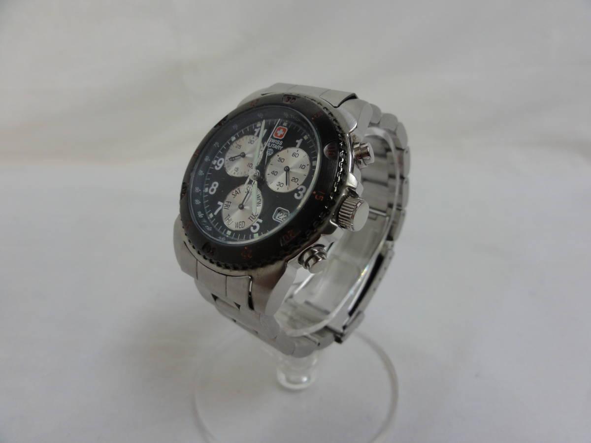 稼働品★スイスミリタリー(SWISS MILITARY) 2154M 腕時計 メンズ 腕回り約17cm_画像2