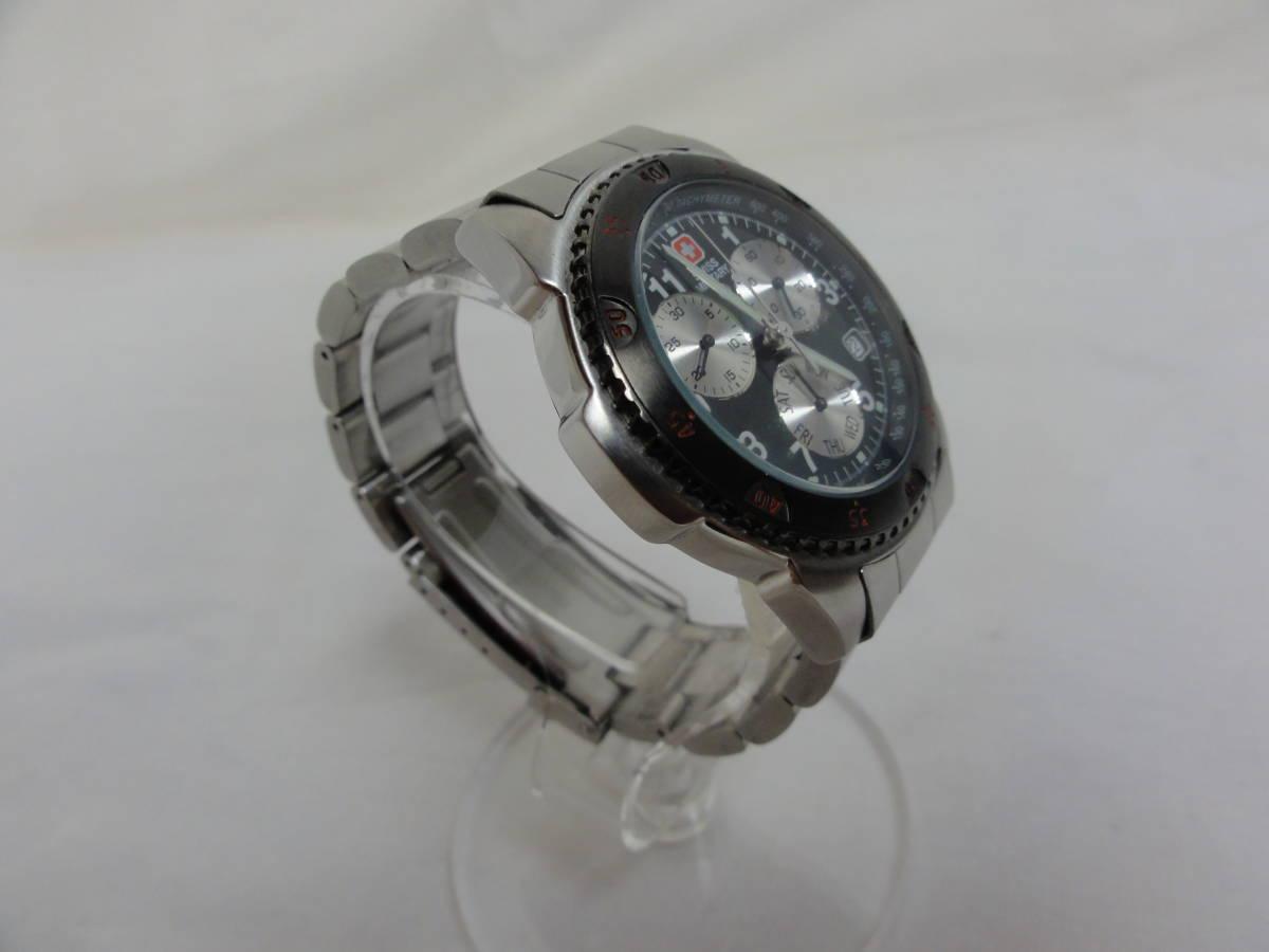稼働品★スイスミリタリー(SWISS MILITARY) 2154M 腕時計 メンズ 腕回り約17cm_画像3