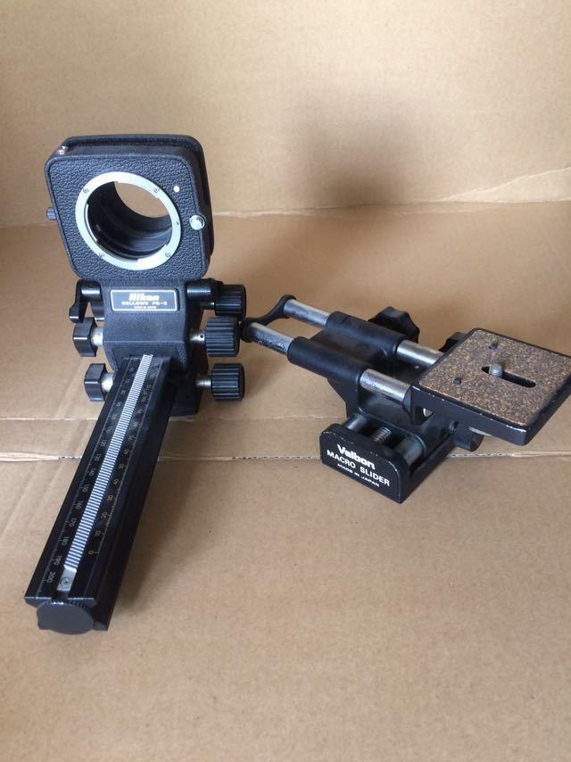 NIKON ニコン bellows ベローズ pb-6 フォーカシング velbon macro slider カメラ機材
