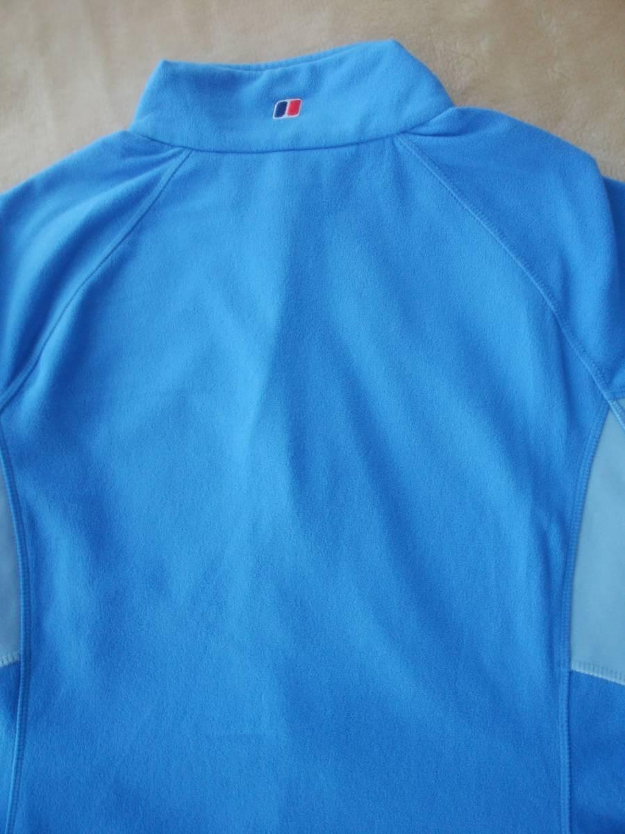バーグハウス berghaus  マイクロフリース フルジップ ストレッチジャケット ブルー色 Lサイズ_画像4