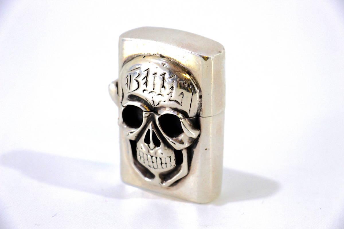 BWL × ZIPPO 純銀 フルメタル ジッポ ライター sterling silver シルバ- 925 銀製 スカル ビルウォールレザー BILL WALL LEATHER