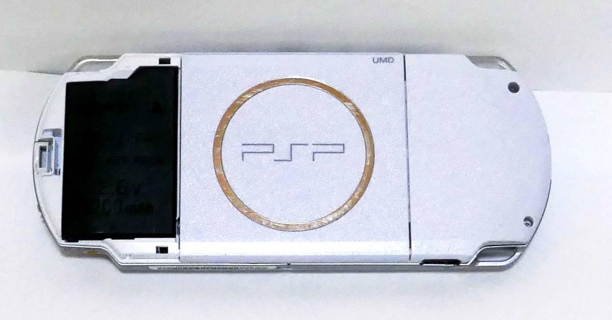 ☆SONY PSP-3000本体 +Memory Stick Pro Duo2G+ACアダプター+ソフト3本英雄伝説他+化粧箱 ☆_画像3