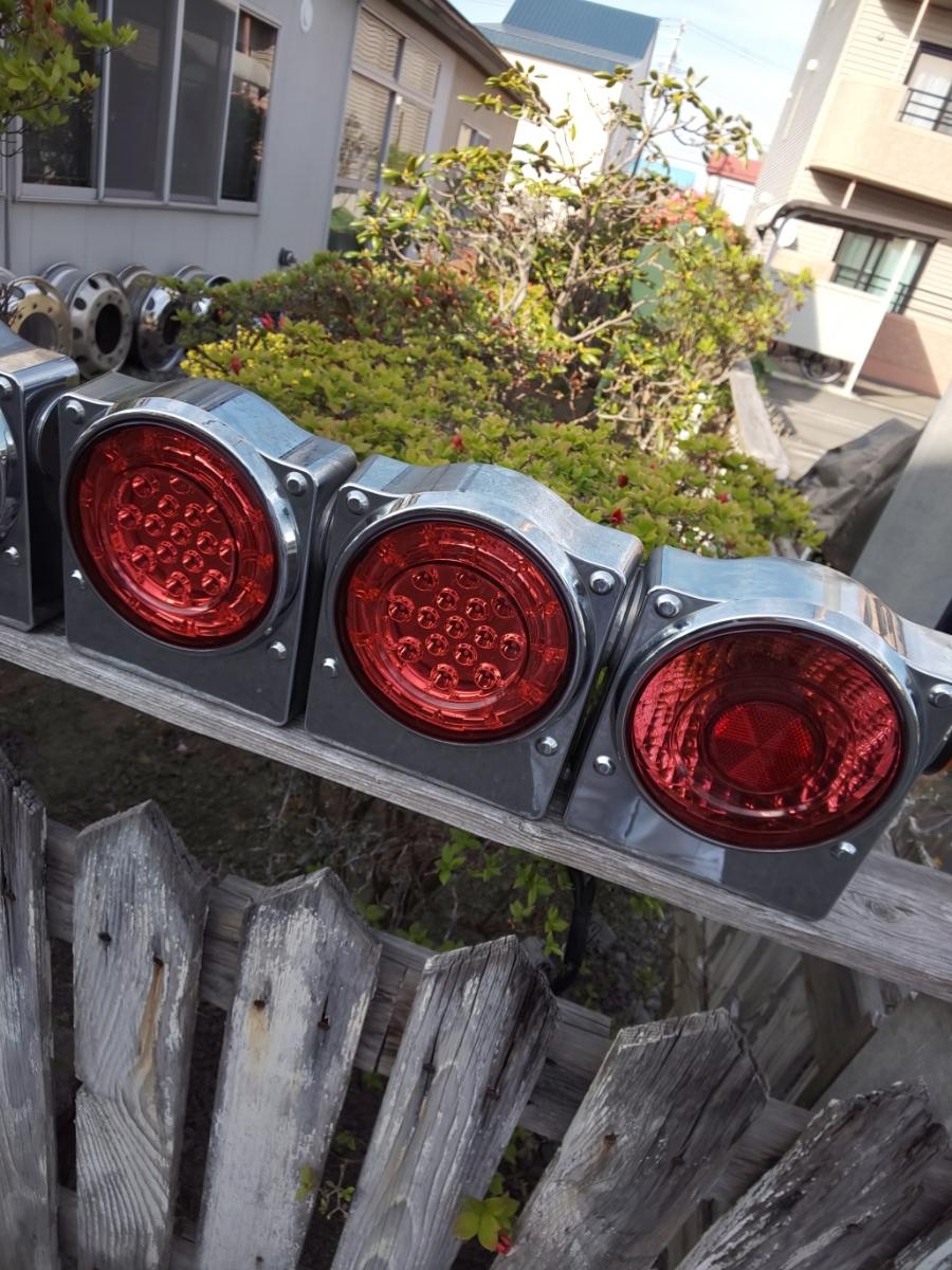 ☆いすゞ純正 丸型 3連LEDテールランプ ICL製 左右セット_画像5