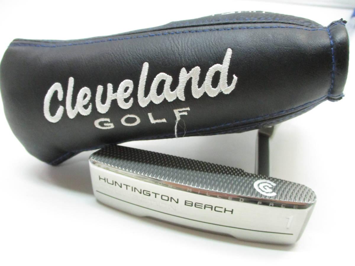美品 Cleveland/クリーブランド HUNTINGTON BEACH #1 34インチ ハンティントン ビーチ パター ヘッドカバー付き