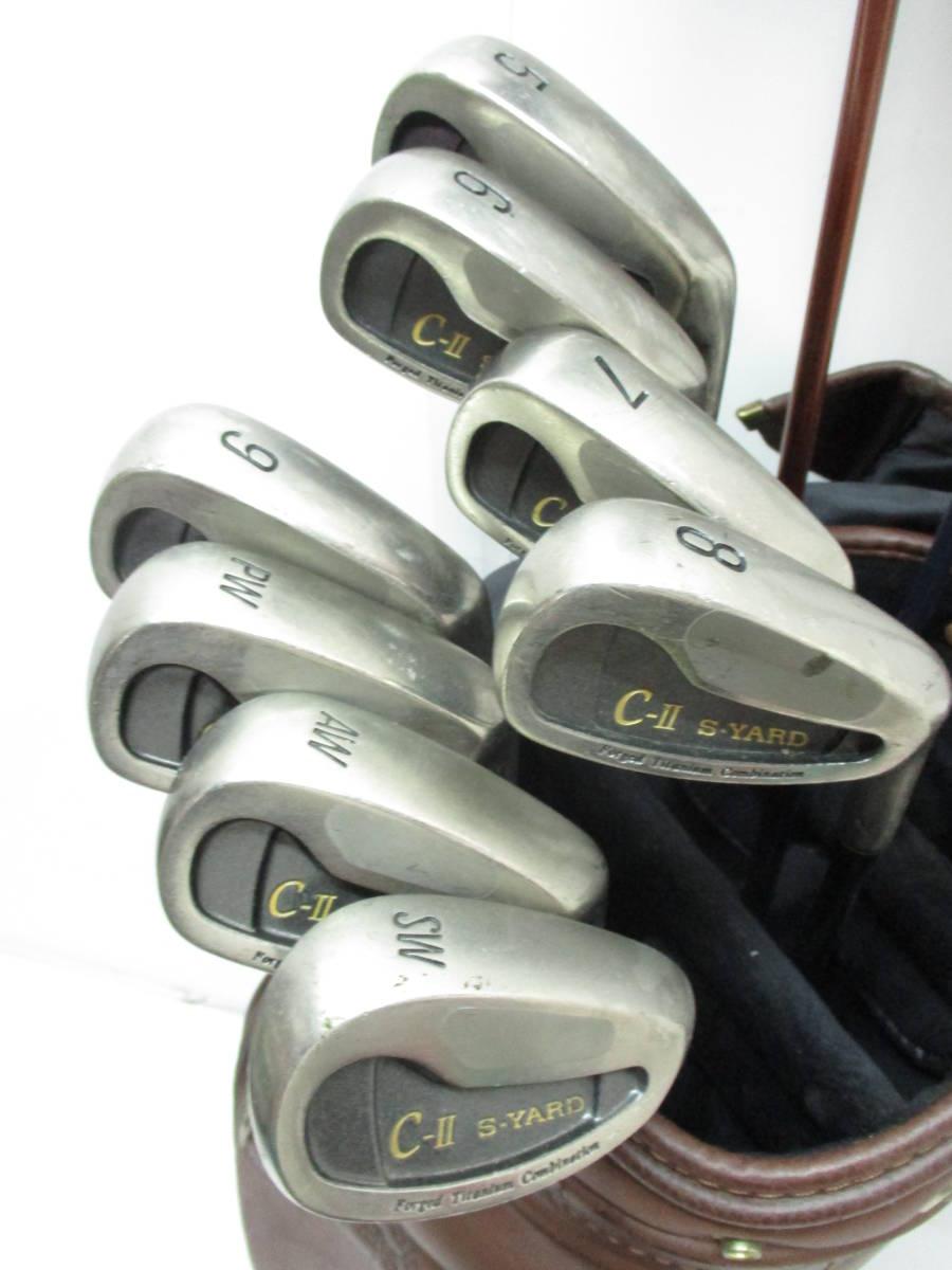 初心者お勧め! 大人の高級ゴルフセット (R) セイコー S-YARD 打ちやすいキャビティバック&カーボンシャフト キャディバッグ付き_画像3