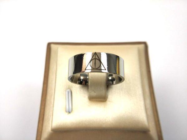 プロビデンスの目 シンプルリング 指輪 ステンレス 死の秘宝 26号_画像2