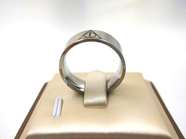 プロビデンスの目 シンプルリング 指輪 ステンレス 死の秘宝 26号_画像3