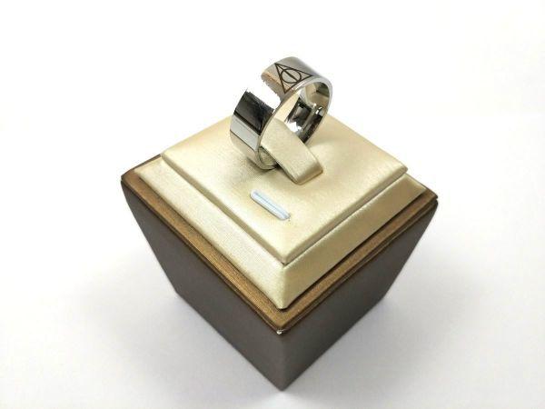 プロビデンスの目 シンプルリング 指輪 ステンレス 死の秘宝 26号_画像1