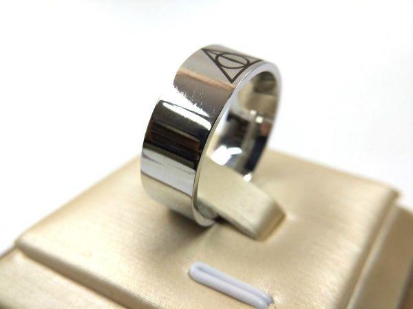 プロビデンスの目 シンプルリング 指輪 ステンレス 死の秘宝 26号_画像4