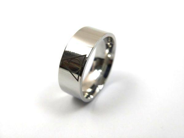 プロビデンスの目 シンプルリング 指輪 ステンレス 死の秘宝 26号_画像6