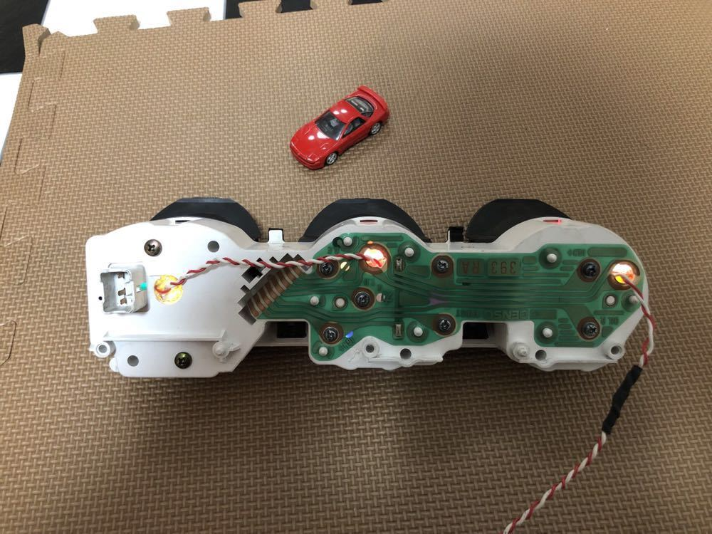 三菱GTO 中期純正3連メーター LED加工品_画像7